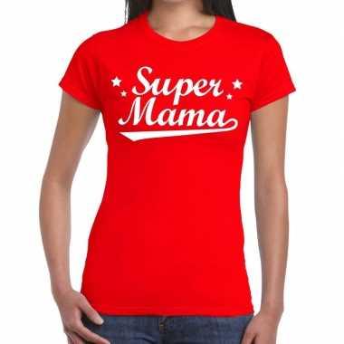 Kadoshirt super mama rood dames