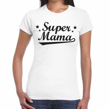 Kadoshirt super mama wit dames