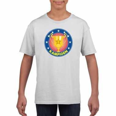 Kampioen shirt wit kinderen