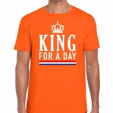 King for a day t shirt oranje heren