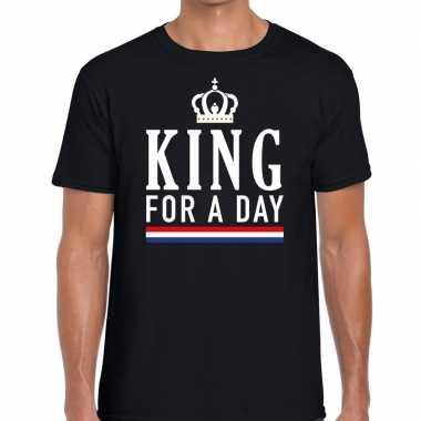 King for a day t shirtt zwart heren
