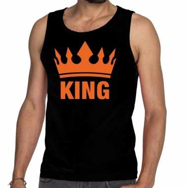 King kroon tanktop / mouwloos shirt zwart heren