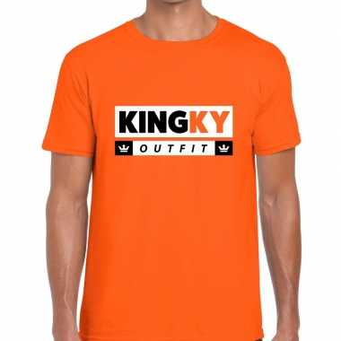 Kingky outfit t shirt oranje heren