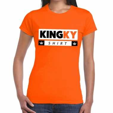Kingky t shirt oranje dames
