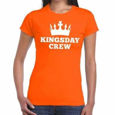 Kingsday crew t shirt oranje dames