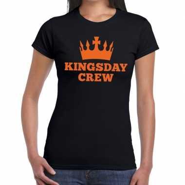 Kingsday crew t shirt zwart dames