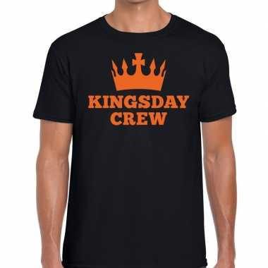 Kingsday crew t shirt zwart heren