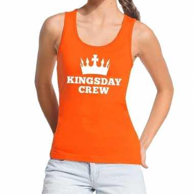 Kingsday crew tanktop / mouwloos shirt oranje dames