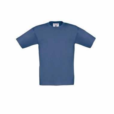 Kleding kinder t shirt denim blauw