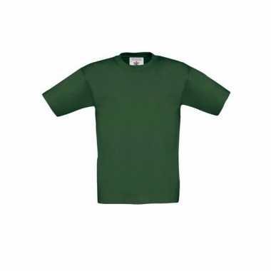 Kleding kinder t shirt donkergroen