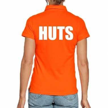 Koningsdag polo t shirt oranje huts dames
