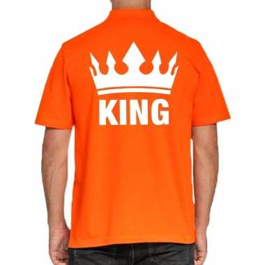 Koningsdag polo t shirt oranje king heren