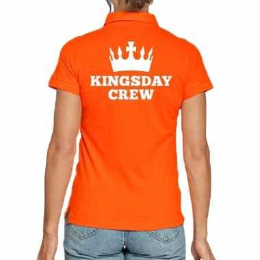 Koningsdag polo t shirt oranje kingsday crew dames