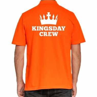Koningsdag polo t shirt oranje kingsday crew heren