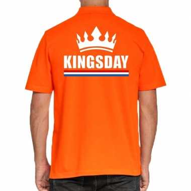 Koningsdag polo t shirt oranje kingsday heren