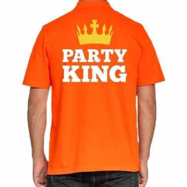 Koningsdag polo t shirt oranje party king heren