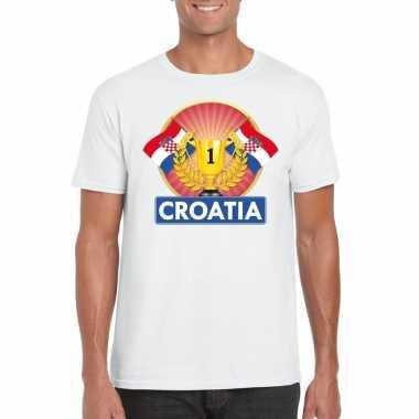 Kroatie kampioen shirt wit heren