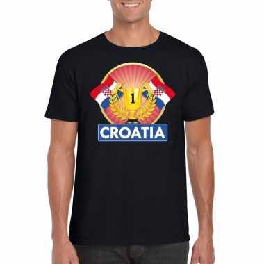 Kroatie kampioen shirt zwart heren