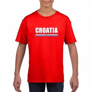 Kroatische supporter t shirt rood kinderen