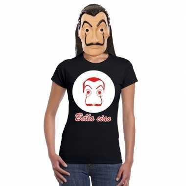 La casa papel masker inclusief zwart dali t shirt dames