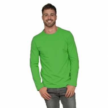 Lange mouwen shirt lime heren