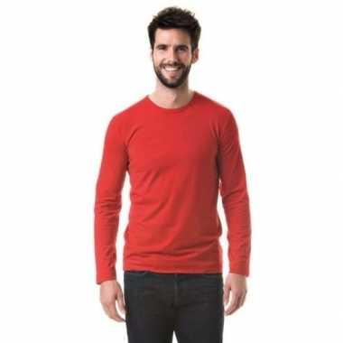 Lange mouwen shirt rood heren