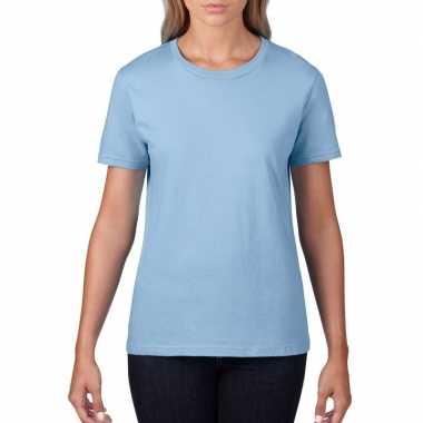 Licht blauwe dames casual t shirts ronde hals