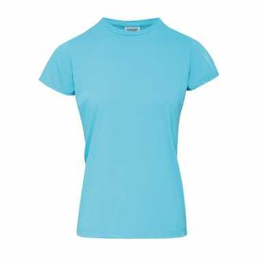 Licht blauwe dames t shirts ronde hals