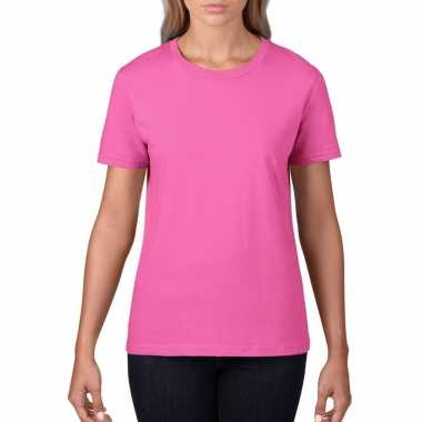Licht roze dames casual t shirts ronde hals