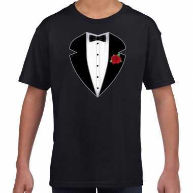 Maffiosi verkleedkleding t-shirt zwart kinderen