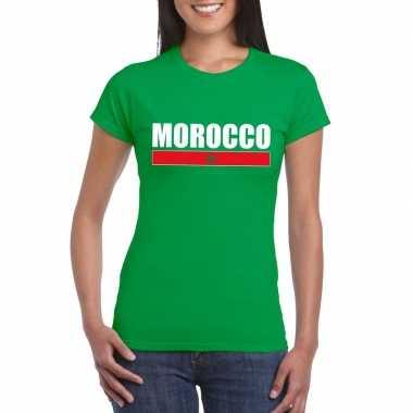 Marokkaanse supporter t shirt groen dames