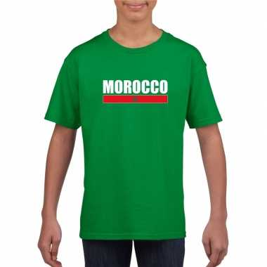 Marokkaanse supporter t shirt groen kinderen