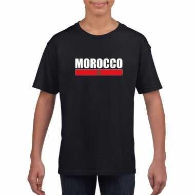 Marokkaanse supporter t shirt zwart kinderen