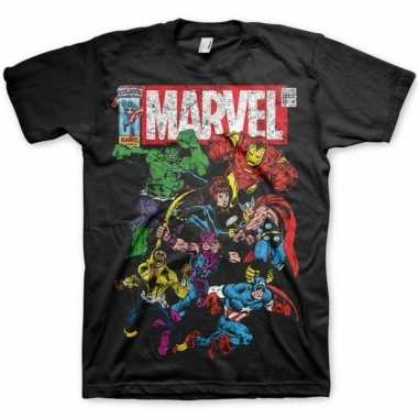 Marvel team t-shirt zwart mannen
