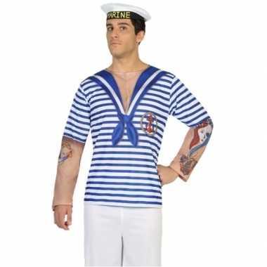 Matroos shirt verkleedoutfit