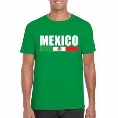 Mexicaanse supporter t shirt groen heren