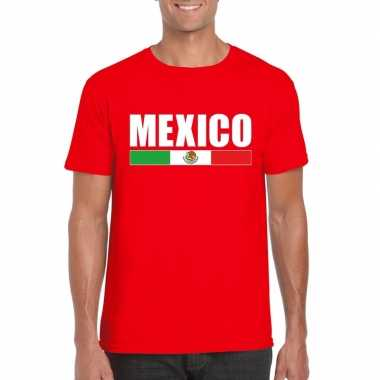 Mexicaanse supporter t shirt rood heren