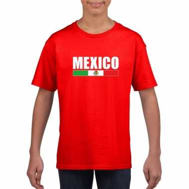 Mexicaanse supporter t shirt rood kinderen