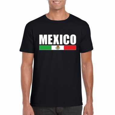 Mexicaanse supporter t shirt zwart heren