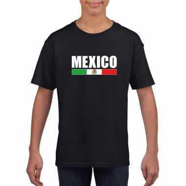 Mexicaanse supporter t shirt zwart kinderen