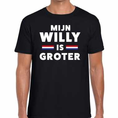 Mijn willy is groter t shirtt zwart heren