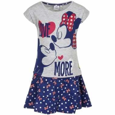 Minnie mouse rokje grijs t-shirt