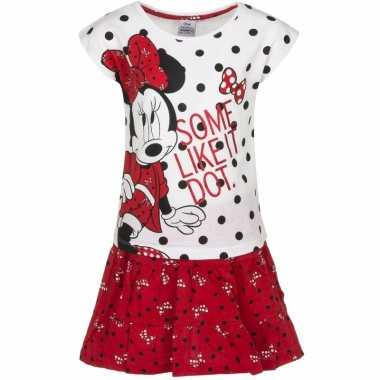 Minnie mouse rokje wit t-shirt