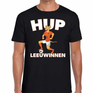 Nederlands dames elftal supporter shirt hup leeuwinnen zwart heren