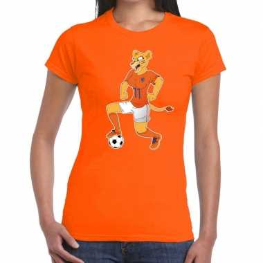 Nederlands dames elftal supporter shirt leeuwinnen bal oranje dames