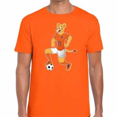 Nederlands dames elftal supporter shirt leeuwinnen bal oranje heren