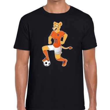 Nederlands dames elftal supporter shirt leeuwinnen bal zwart heren