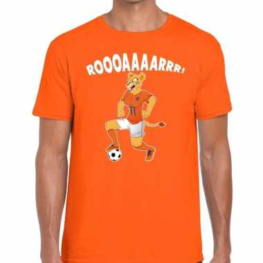 Nederlands dames elftal supporter shirt leeuwinnen roooaaaarrr oranje