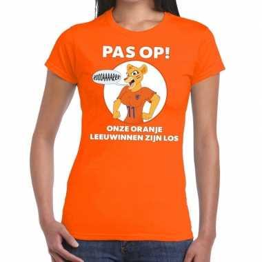 Nederlands dames elftal supporter shirt pas leeuwinnen oranje dames
