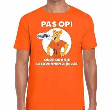 Nederlands dames elftal supporter shirt pas leeuwinnen oranje heren